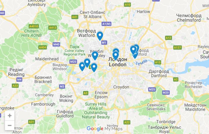 Українські ресторани та кафе в Лондоні